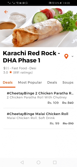 Cheetay-delivery-app-Ordering-the-food-screen