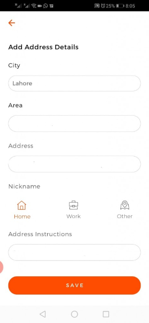 Cheetay-delivery-app-address-screen